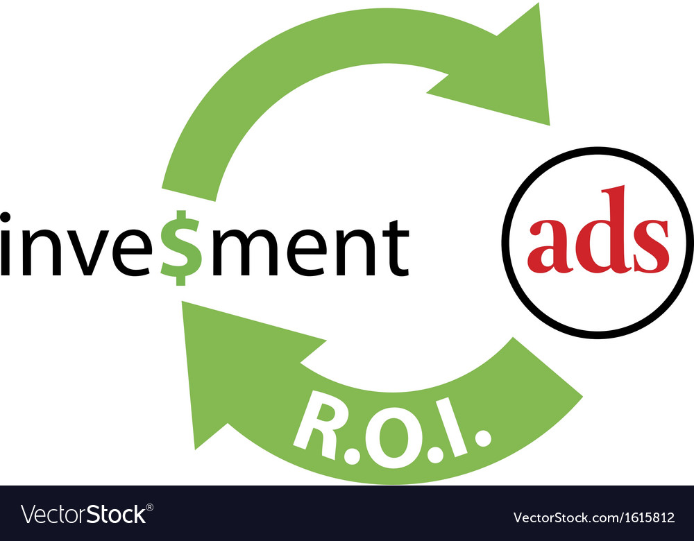 Roi ads return on investment vector | Price: 1 Credit (USD $1)