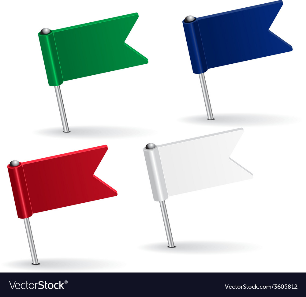 Set of pin icon flags vector | Price: 1 Credit (USD $1)