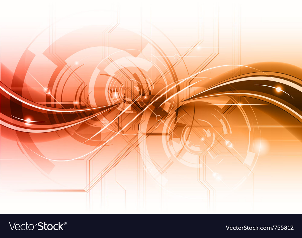Tech wave background vector | Price: 1 Credit (USD $1)