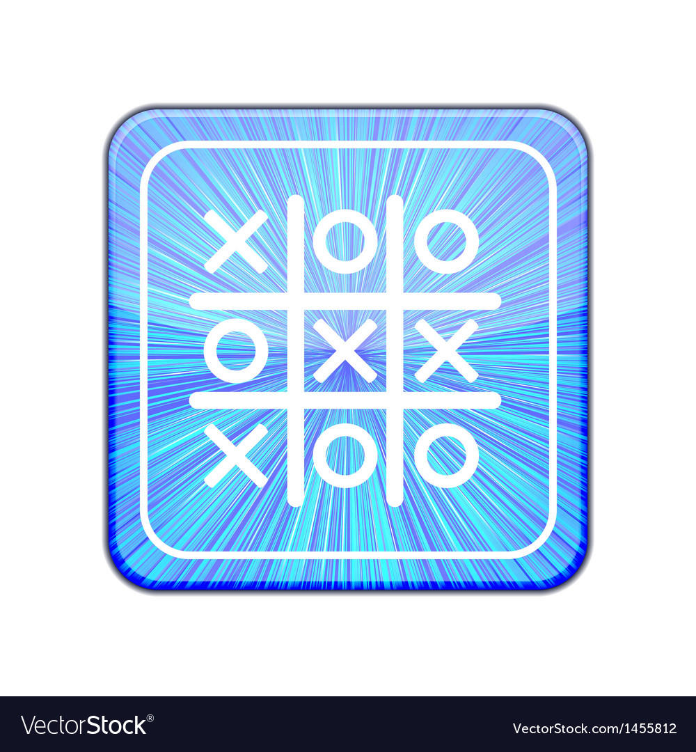 Version tic tac toe icon eps 10 vector | Price: 1 Credit (USD $1)