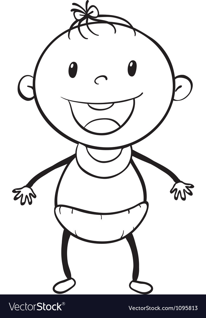 Baby sketch vector | Price: 1 Credit (USD $1)
