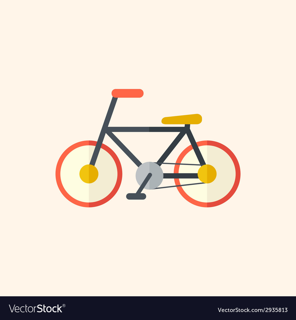 Bicycle travel flat icon vector | Price: 1 Credit (USD $1)