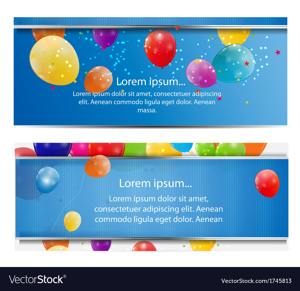 Color glossy balloons card background vector | Price: 1 Credit (USD $1)