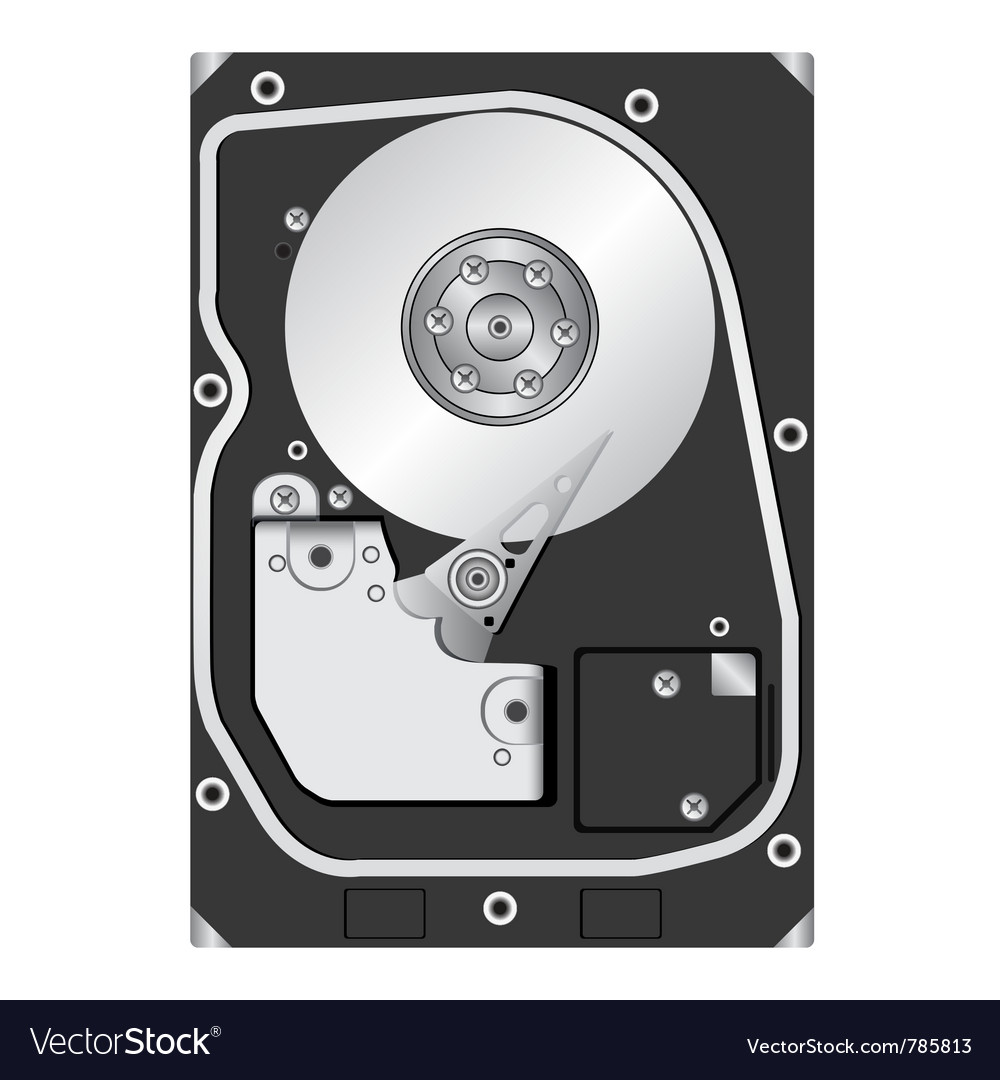 Computer hard disk drive vector | Price: 1 Credit (USD $1)