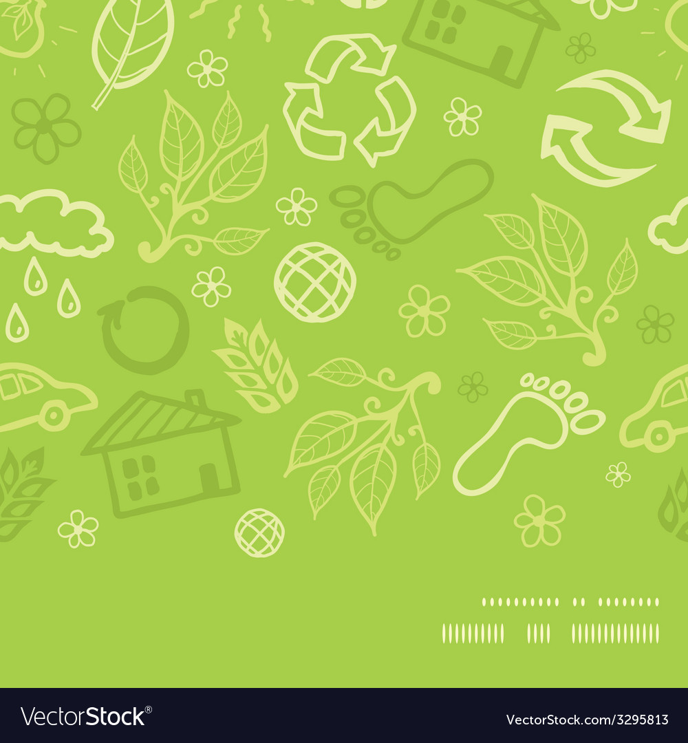 Environmental horizontal frame seamless pattern vector | Price: 1 Credit (USD $1)