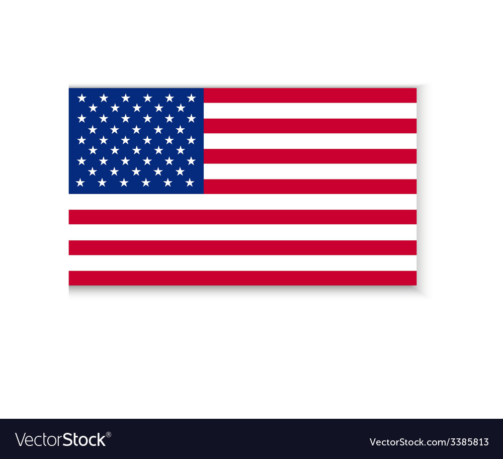 Flag of america vector | Price: 1 Credit (USD $1)