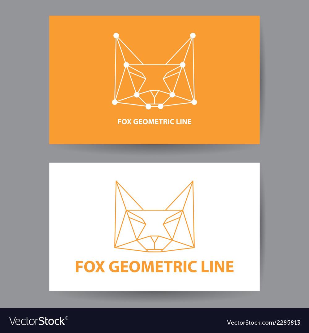 Fox geometric line vector | Price: 1 Credit (USD $1)