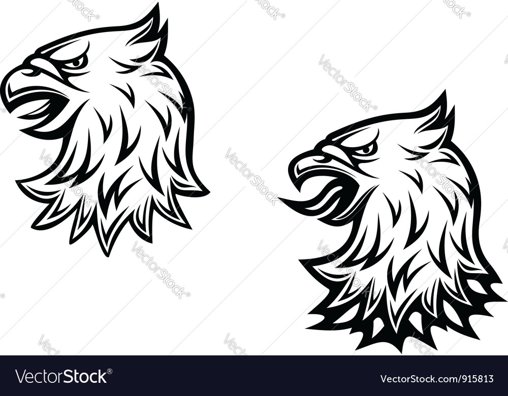 Heraldic eagle head vector | Price: 1 Credit (USD $1)