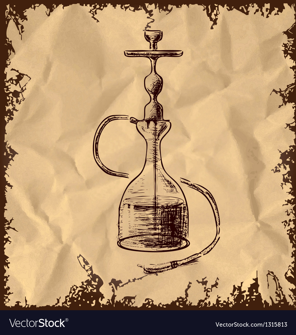 Hookah icon on vintage background vector | Price: 1 Credit (USD $1)