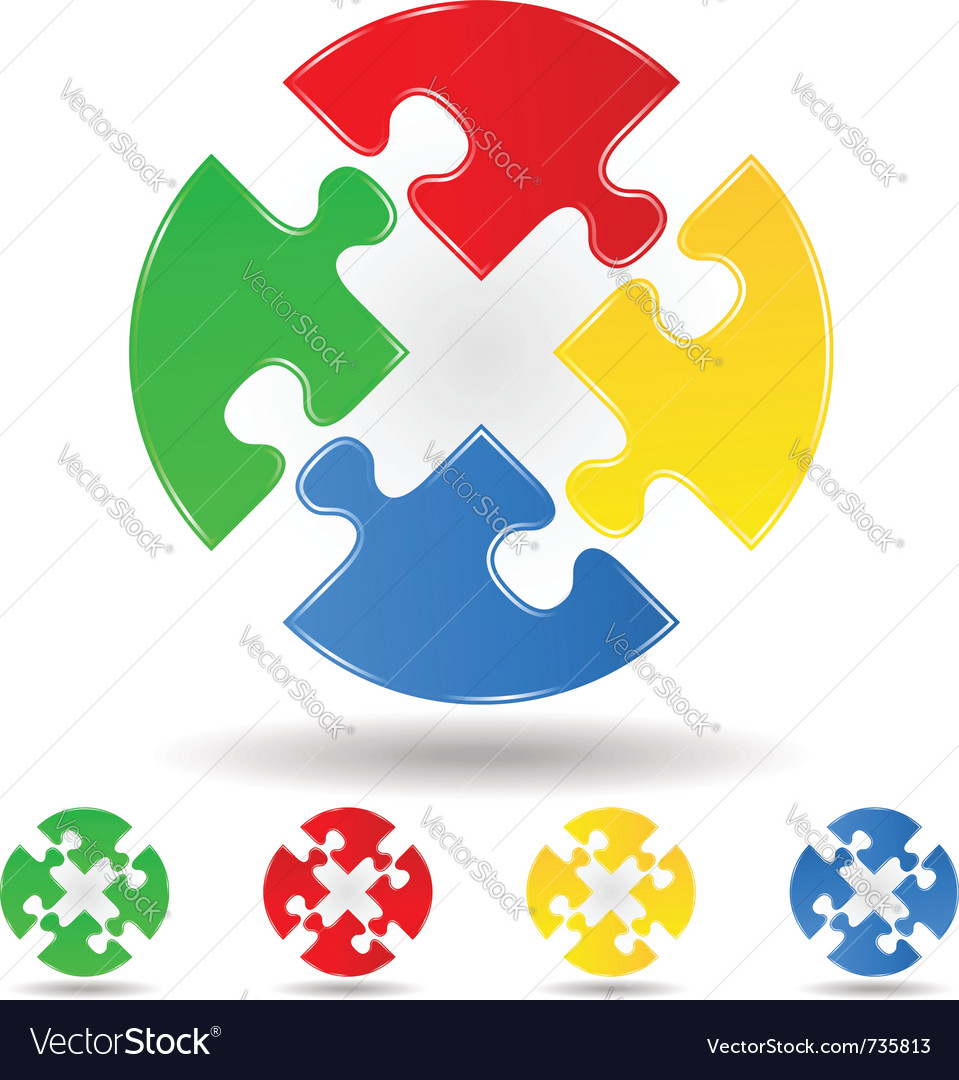 Puzzle circle vector | Price: 1 Credit (USD $1)