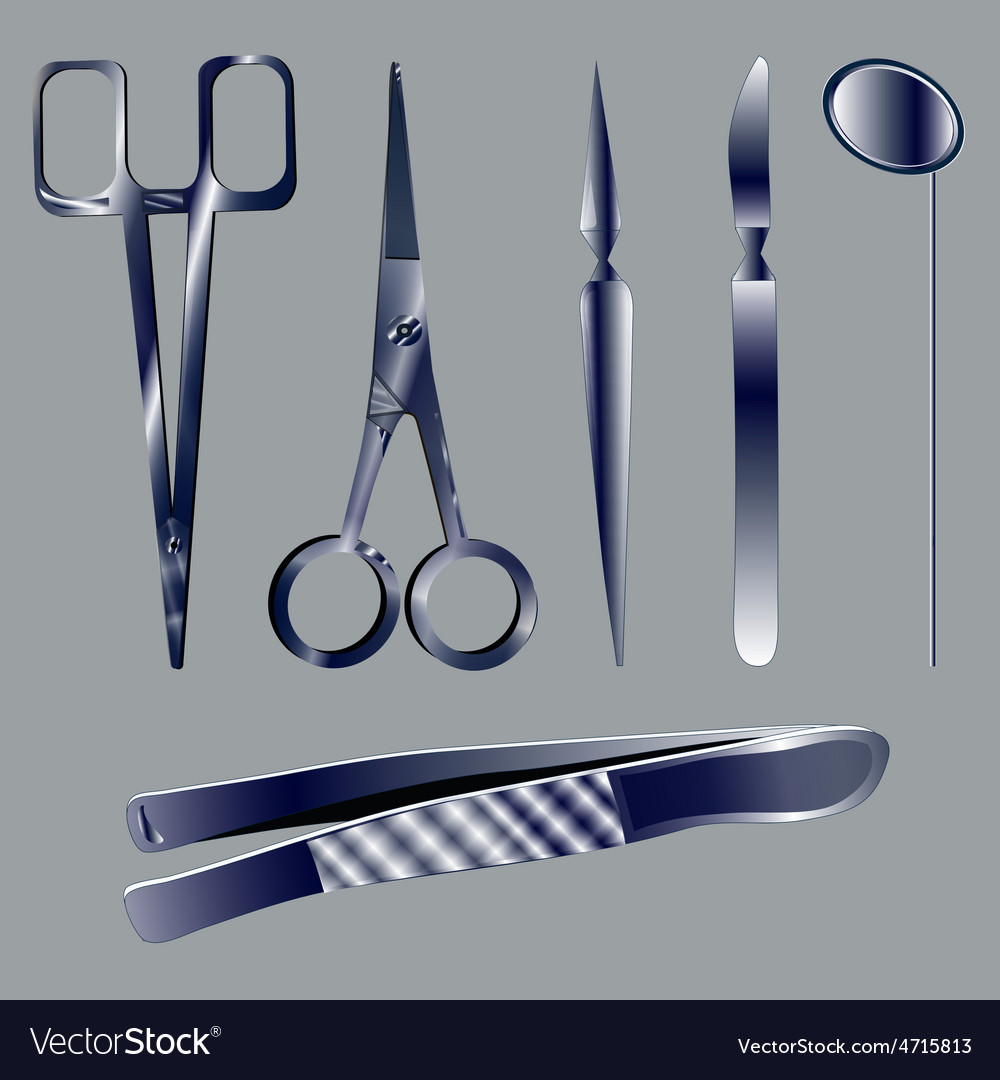 Set medical instruments vector | Price: 1 Credit (USD $1)