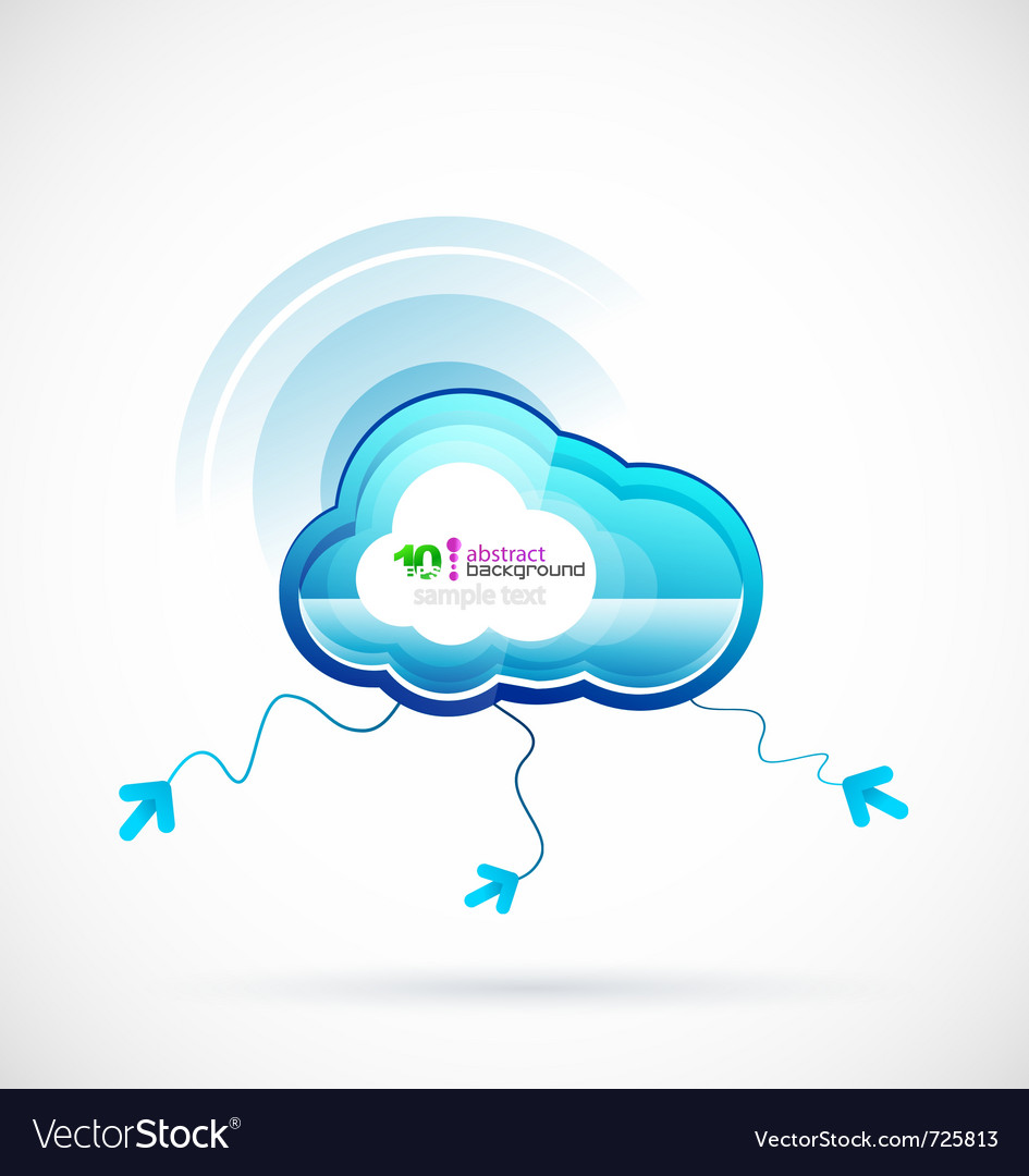 Technology cloud vector | Price: 1 Credit (USD $1)