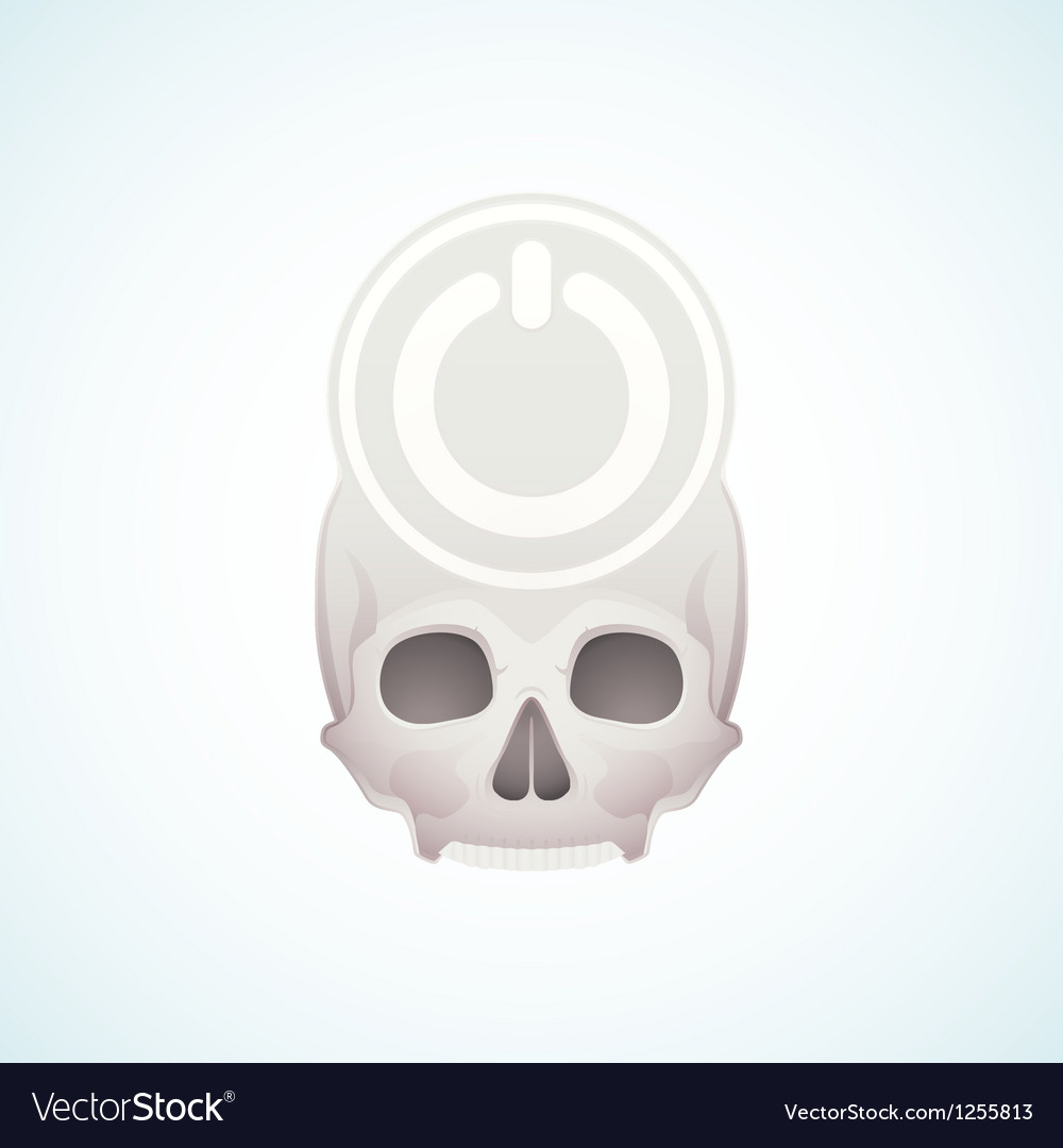 Turn off the skull vector | Price: 1 Credit (USD $1)