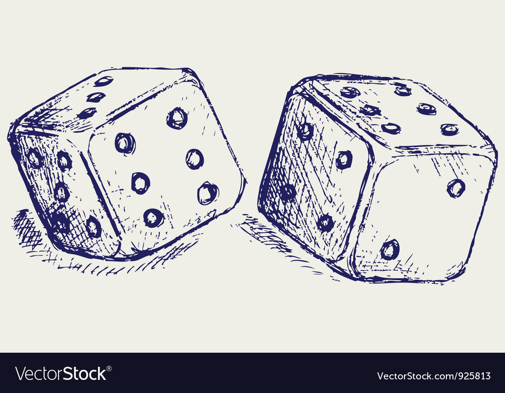 Two dices vector   Price: 1 Credit (USD $1)