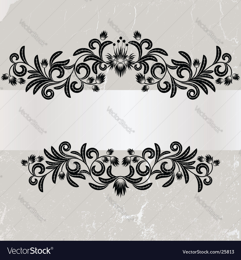Vintage grunge grey frame vector | Price: 1 Credit (USD $1)