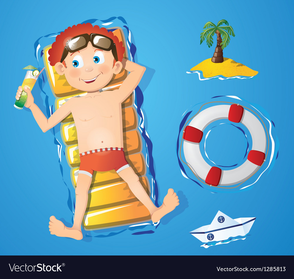 Water fun - boy vector | Price: 1 Credit (USD $1)