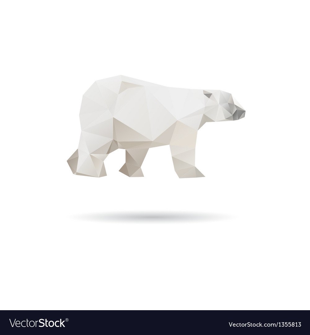 White bear isolated on a white backgrounds vector | Price: 1 Credit (USD $1)