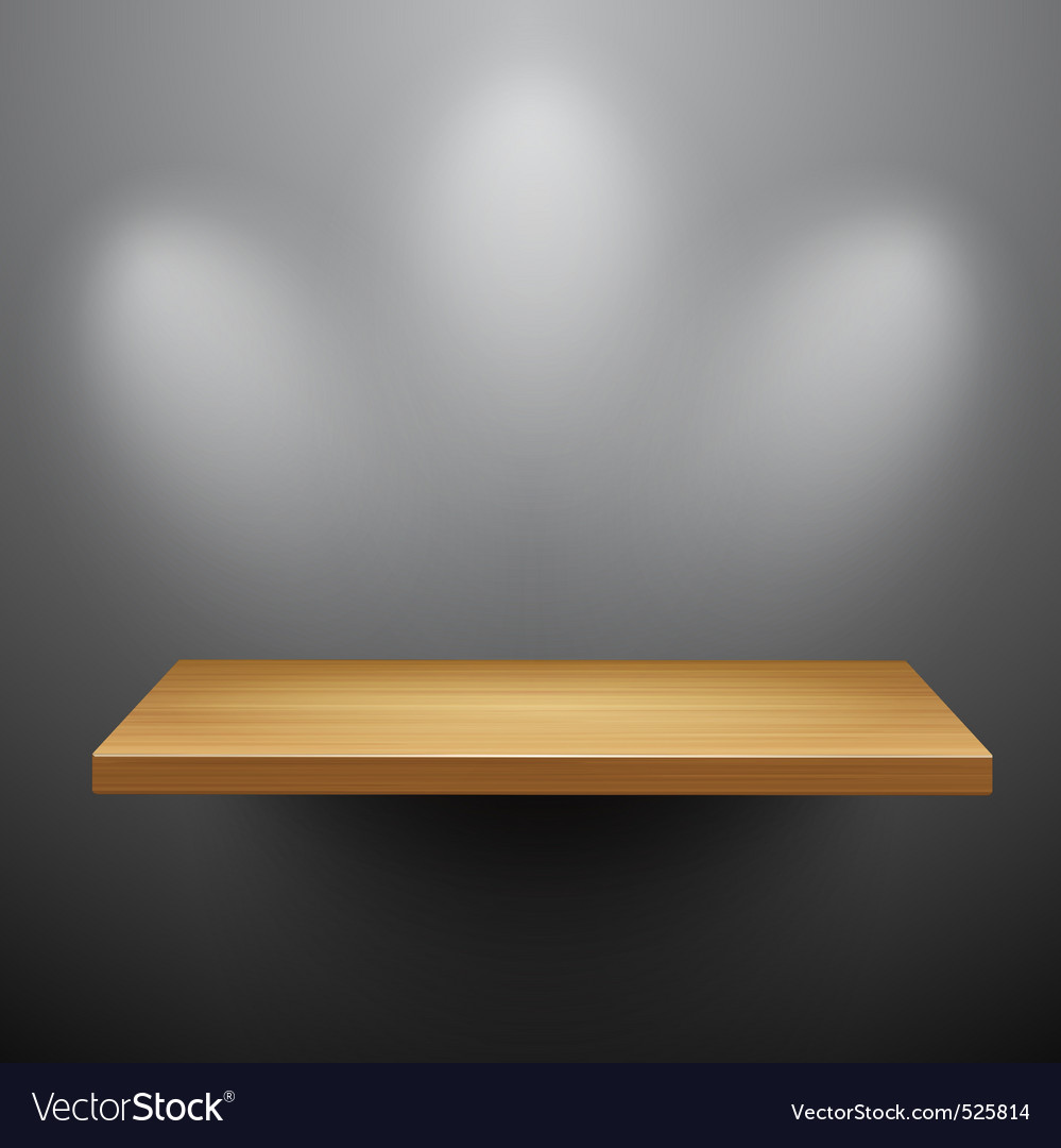 3d isolated empty shelf for exhibit vector | Price: 1 Credit (USD $1)