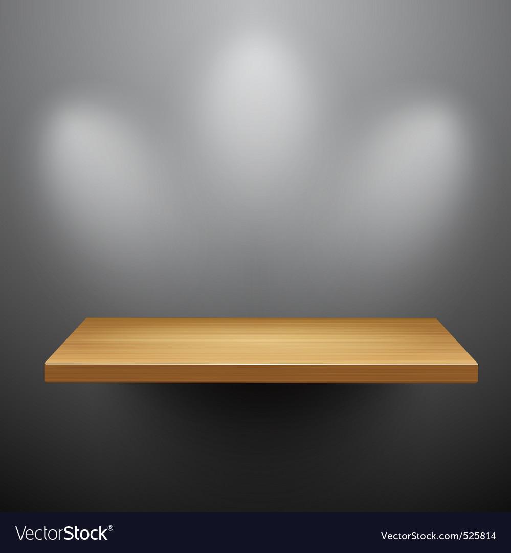 3d isolated empty shelf for exhibit vector | Price: 1 Credit (USD $1)