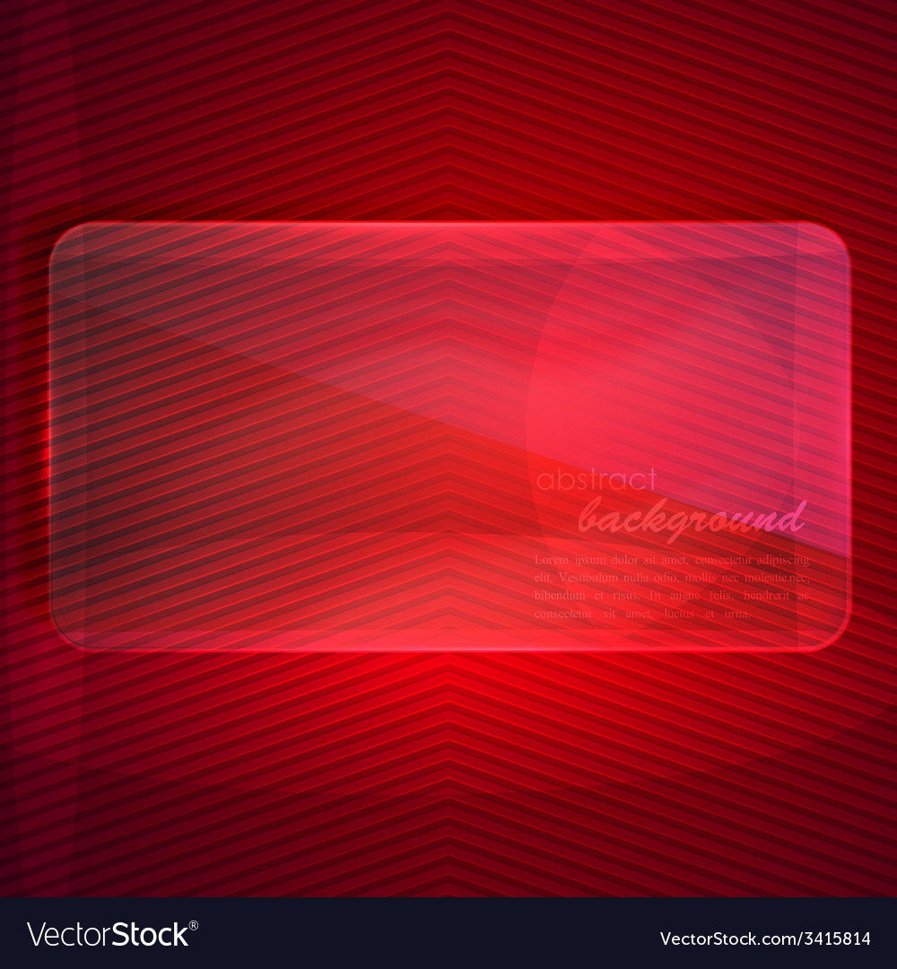 Abstract background with transparent glass banner vector | Price: 1 Credit (USD $1)