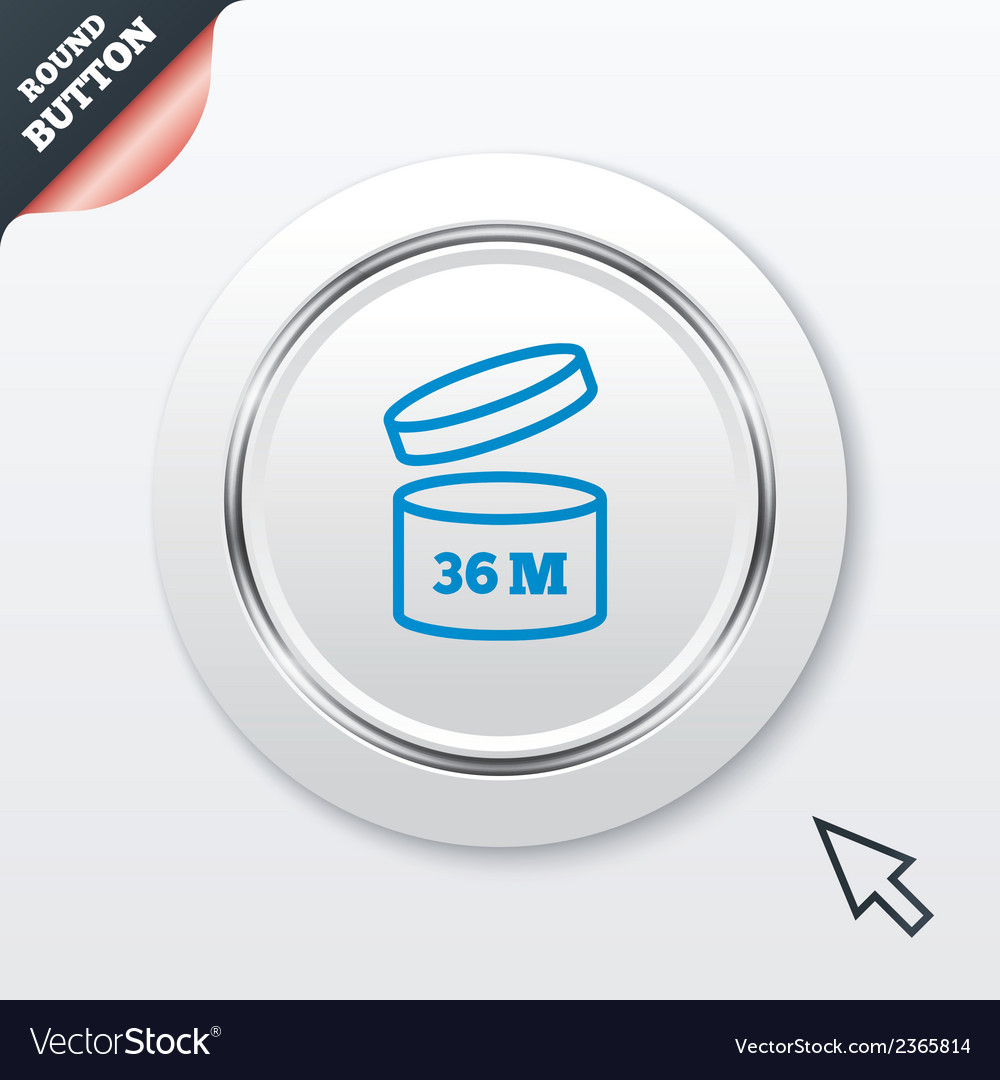 After opening use 36 months sign icon vector   Price: 1 Credit (USD $1)