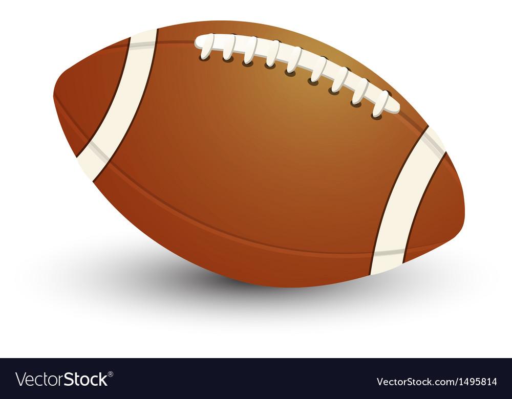 American football ball vector | Price: 1 Credit (USD $1)