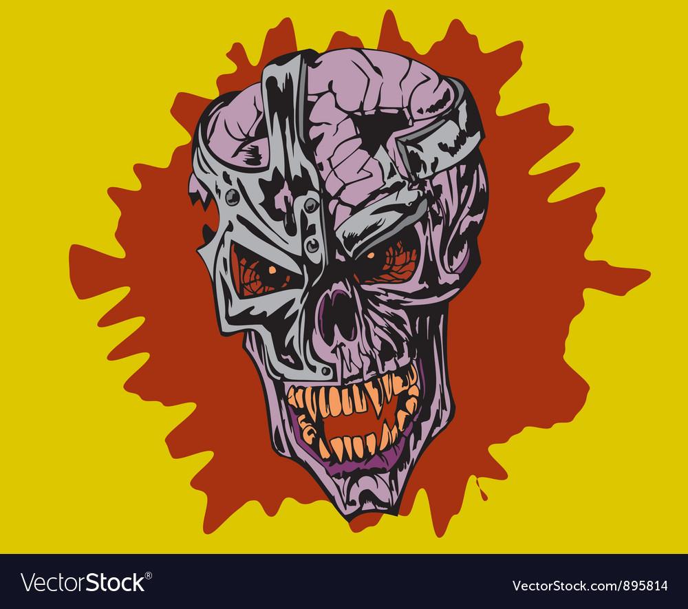 Frame skull vector | Price: 1 Credit (USD $1)