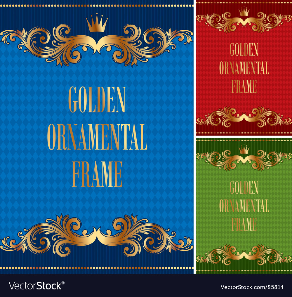 Frame with golden ornament vector | Price: 1 Credit (USD $1)