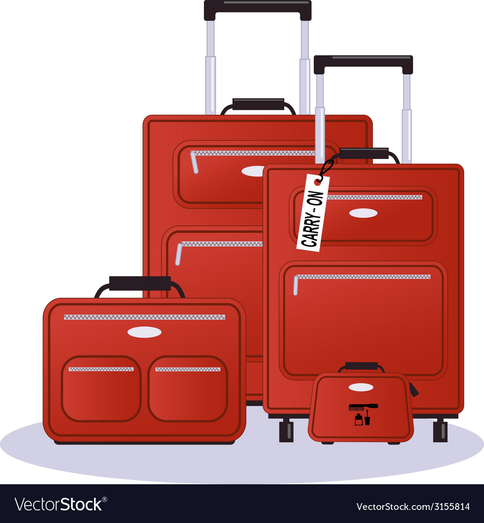Luggage set vector | Price: 1 Credit (USD $1)