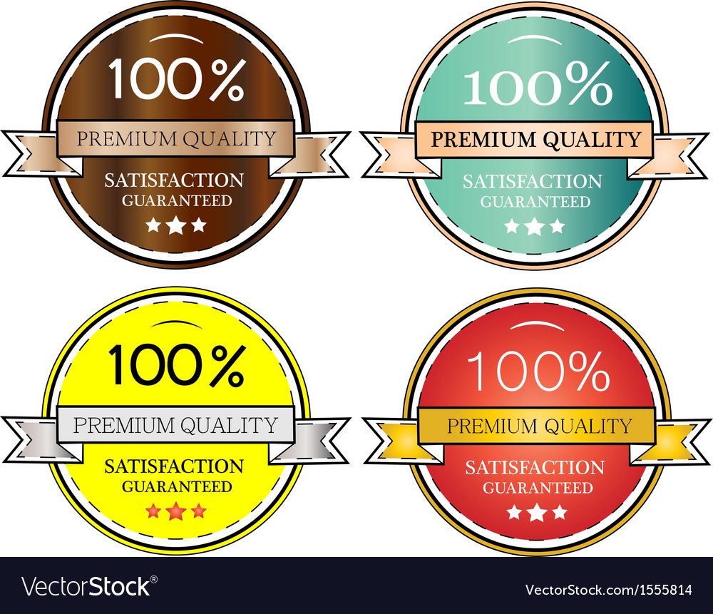 Quality labels vector | Price: 1 Credit (USD $1)