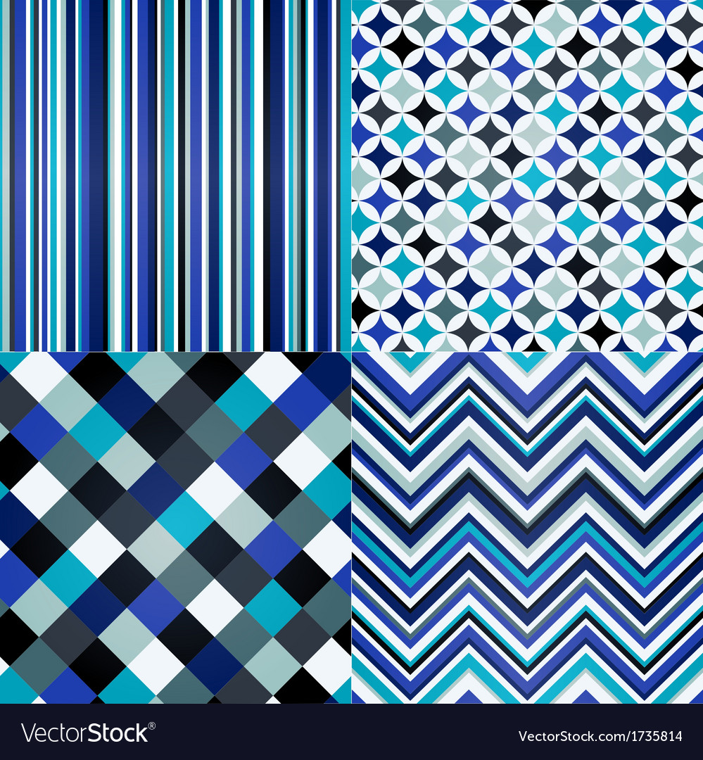 Seamless stripes geometric and zigzag pattern vector | Price: 1 Credit (USD $1)