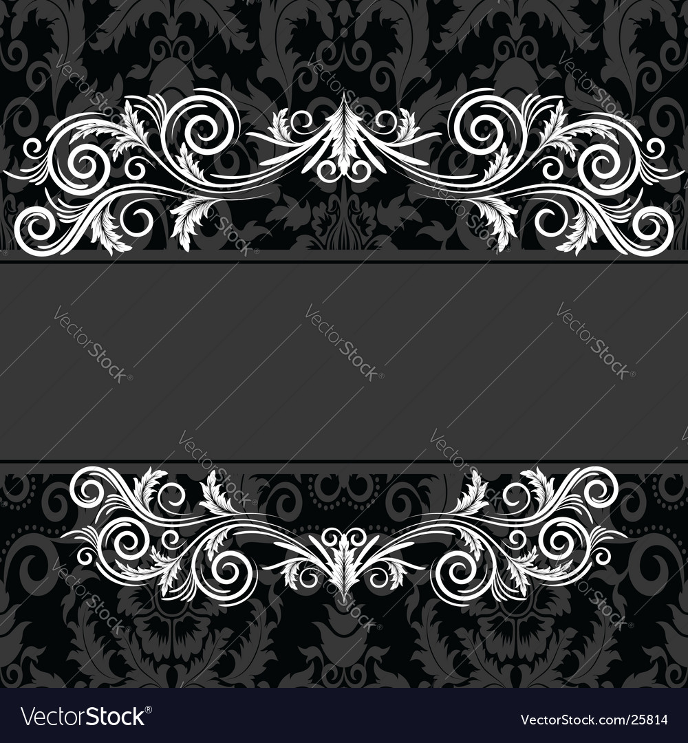 Vintage black frame vector | Price: 1 Credit (USD $1)