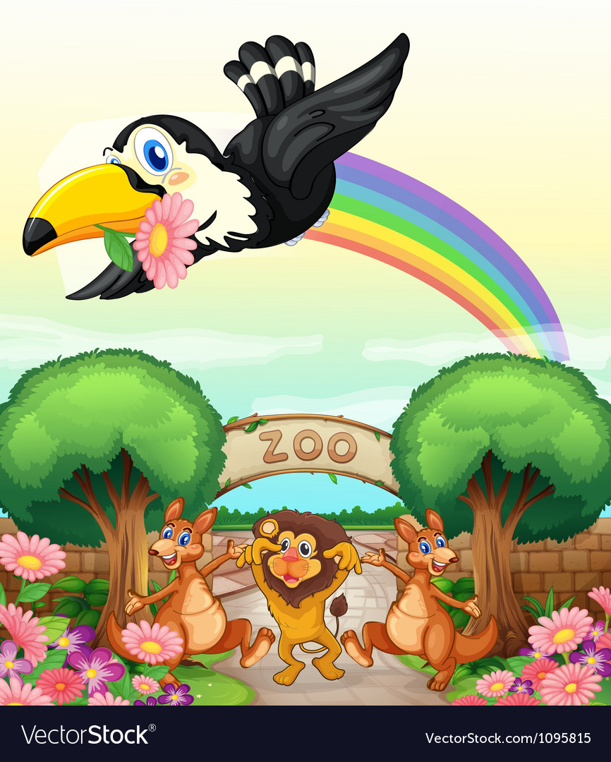 A zoo and the animals vector | Price: 3 Credit (USD $3)