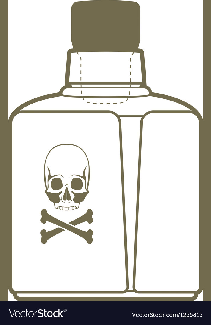 Bottle of poison vector | Price: 1 Credit (USD $1)