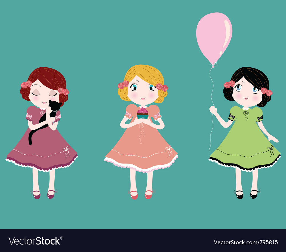 Cute girls vector   Price: 3 Credit (USD $3)