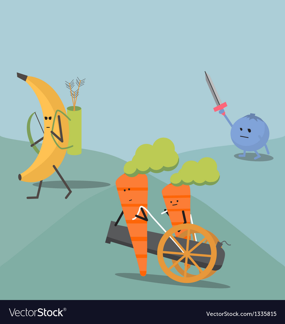 Food fight vector | Price: 1 Credit (USD $1)