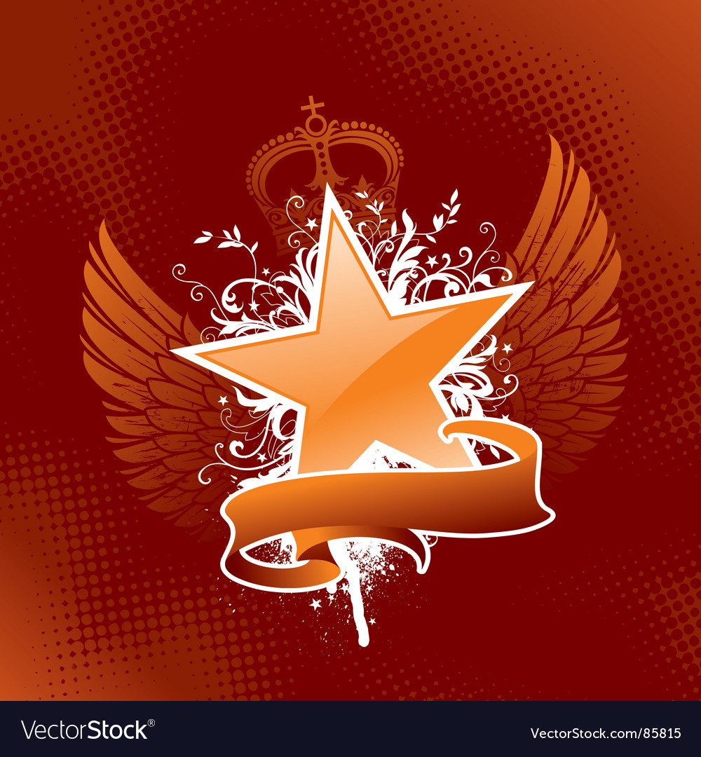 Heraldic star vector | Price: 1 Credit (USD $1)