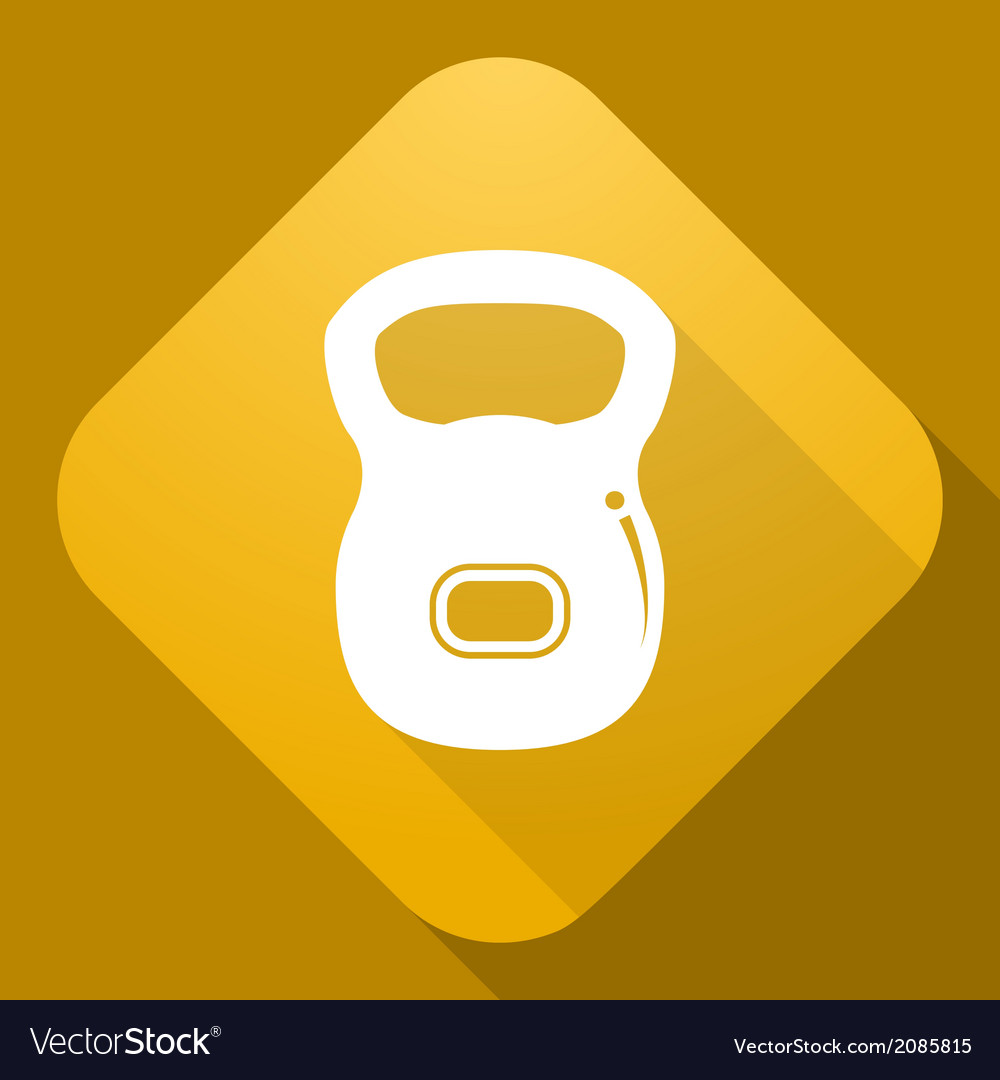Icon of dumbbell with a long shadow vector   Price: 1 Credit (USD $1)