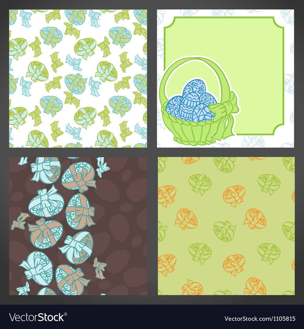 Set of easter backgrounds lots detail vector | Price: 1 Credit (USD $1)