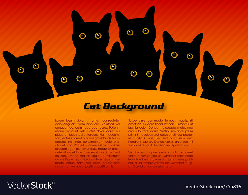 Black cats vector | Price: 1 Credit (USD $1)