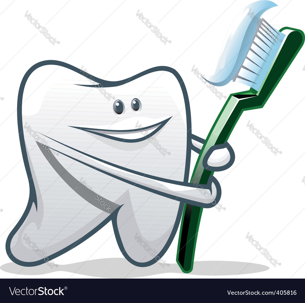 Clean teeth vector | Price: 1 Credit (USD $1)