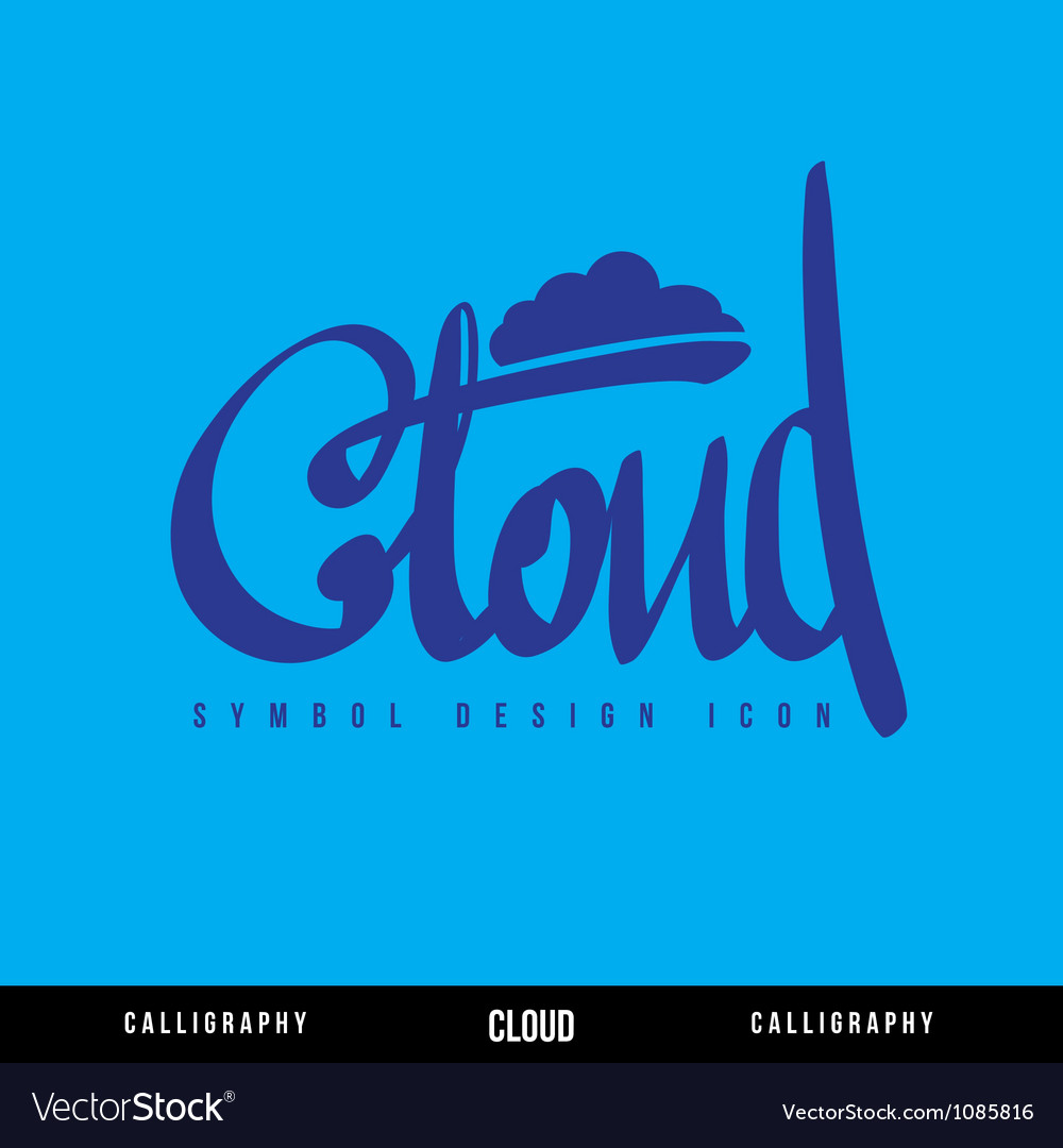Cloud calligraphy concept vector | Price: 1 Credit (USD $1)