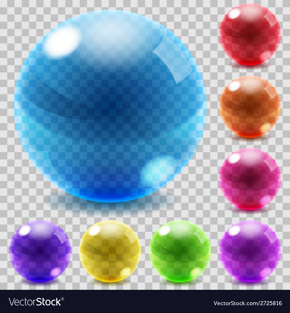 Colored glass spheres vector | Price: 1 Credit (USD $1)