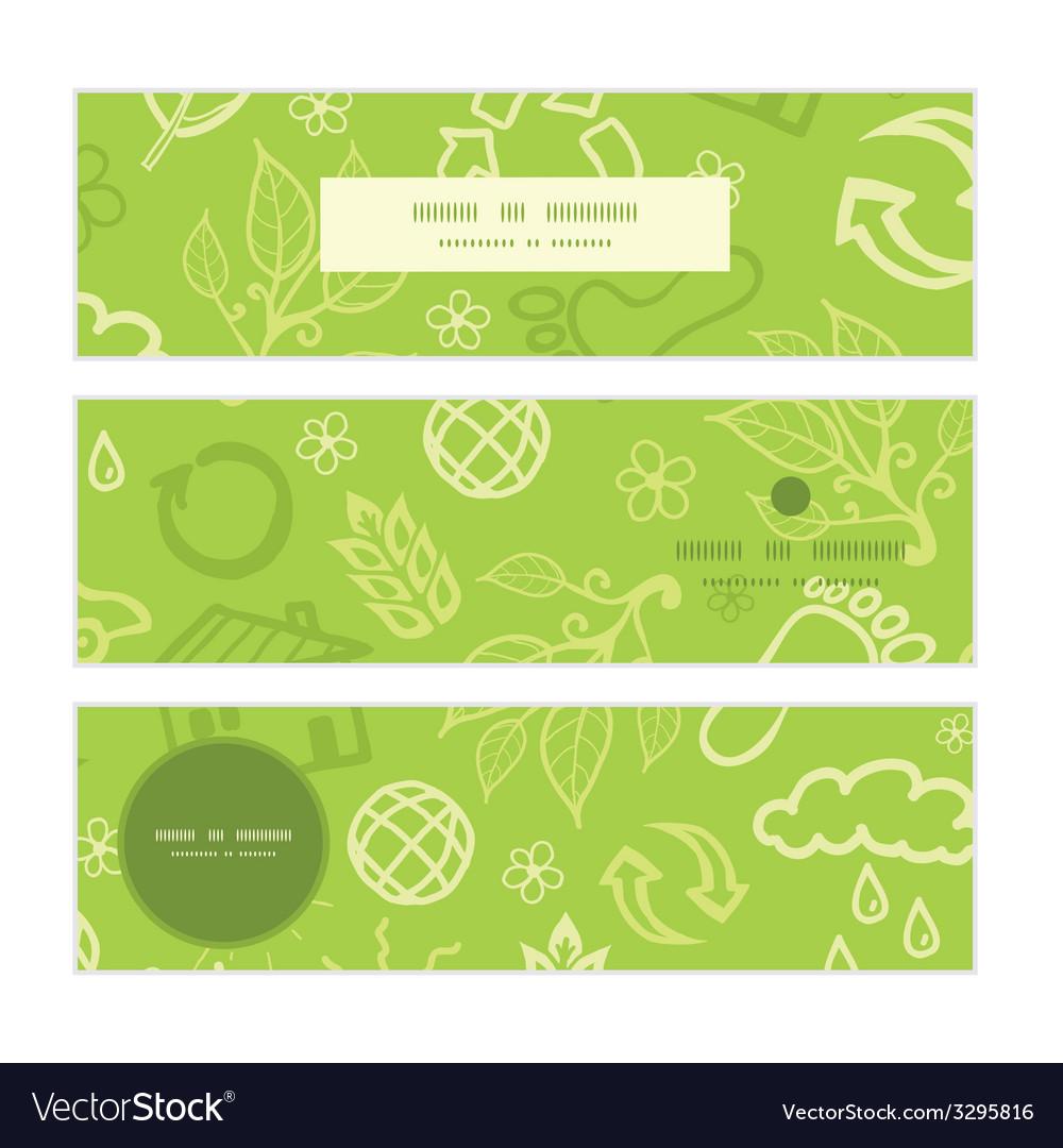 Environmental horizontal banners set pattern vector | Price: 1 Credit (USD $1)