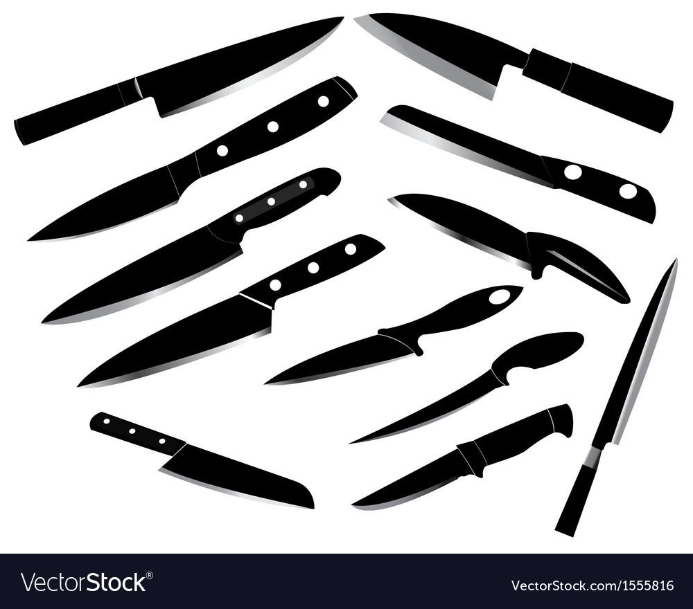 Kitchen knife set vector | Price: 1 Credit (USD $1)