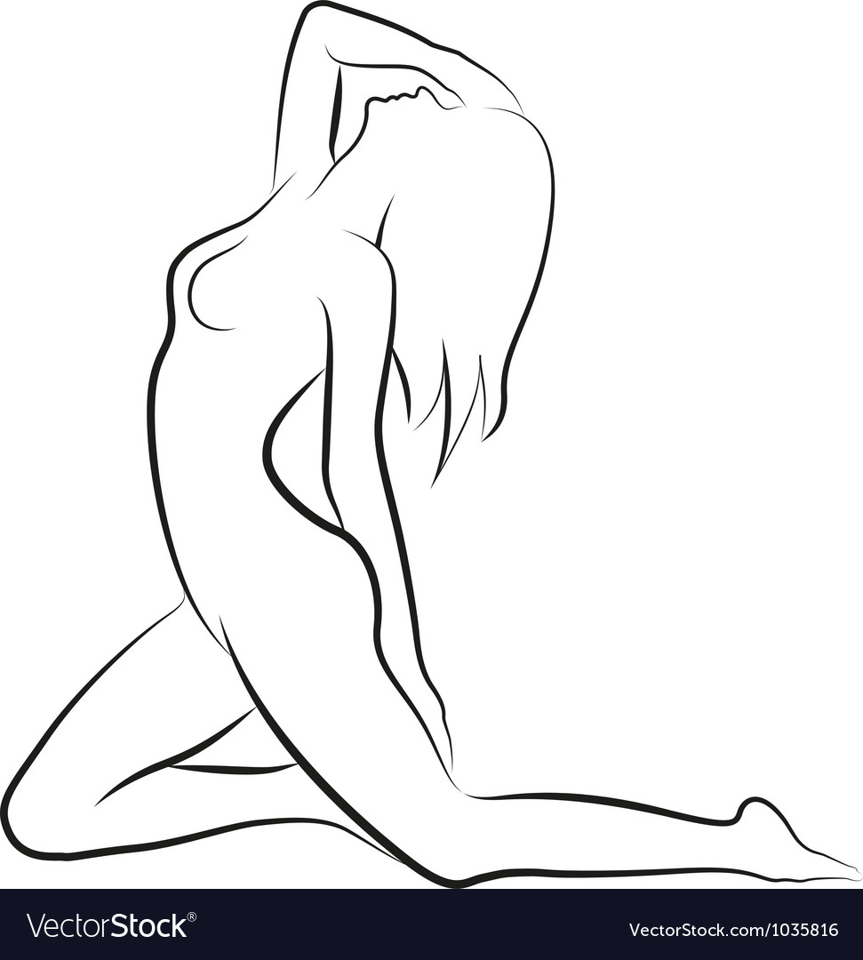 Nude woman vector | Price: 1 Credit (USD $1)