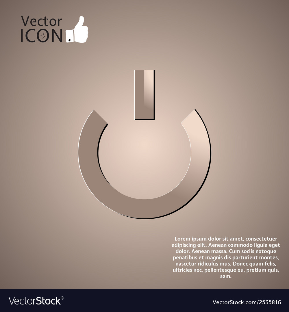 Power icon on the background vector | Price: 1 Credit (USD $1)