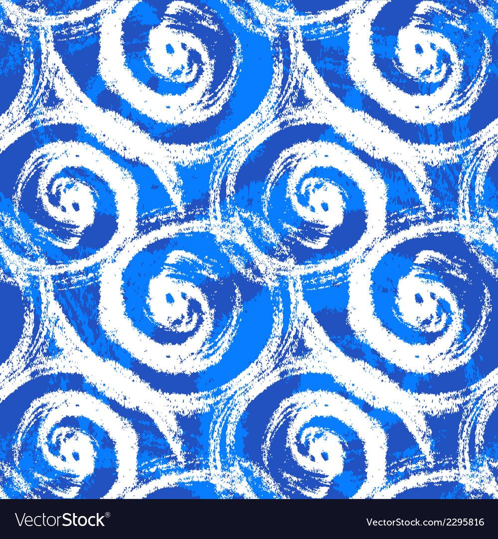 Seamless pattern with bold swirling brush strokes vector | Price: 1 Credit (USD $1)