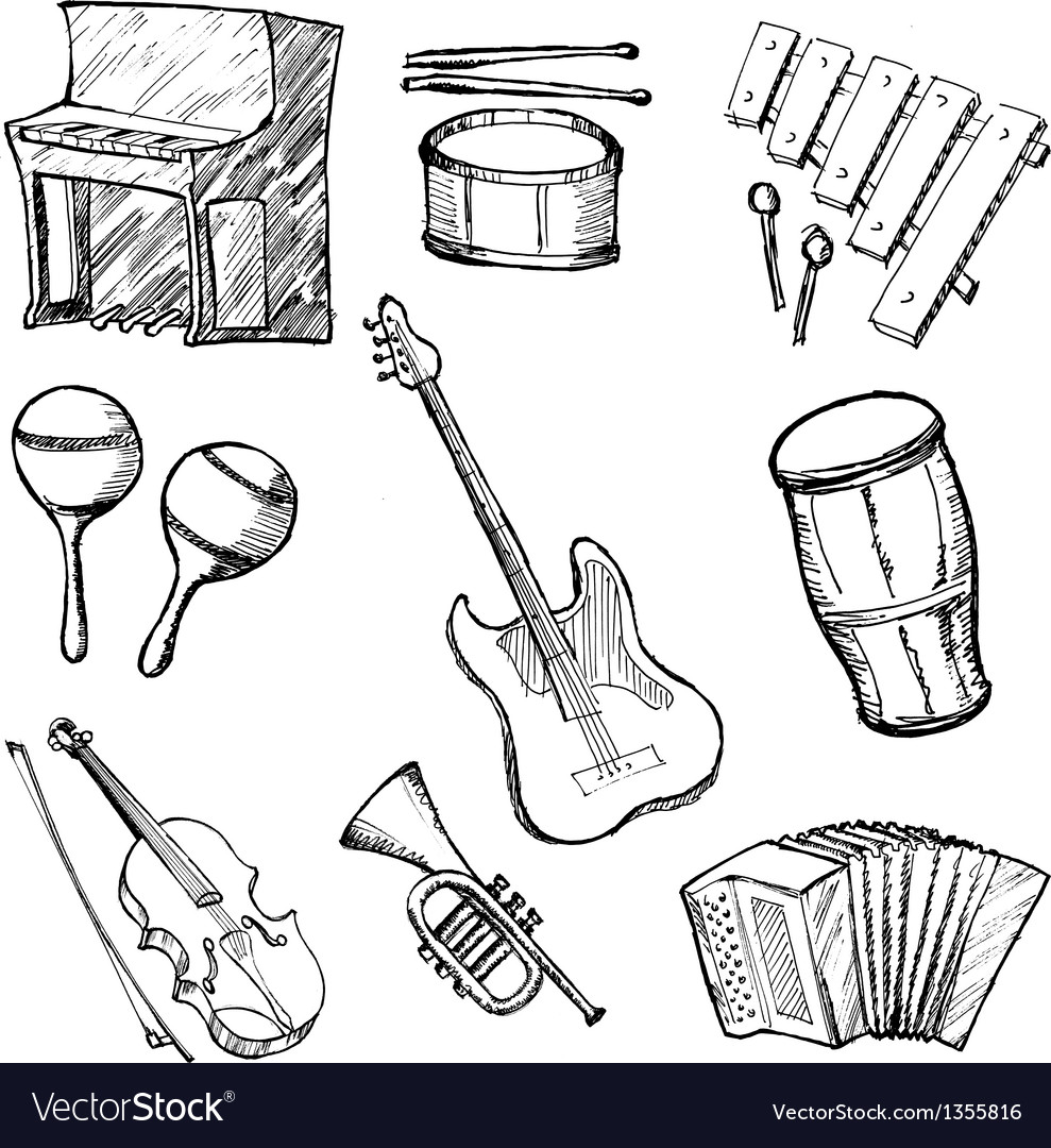 Set of instruments vector | Price: 1 Credit (USD $1)
