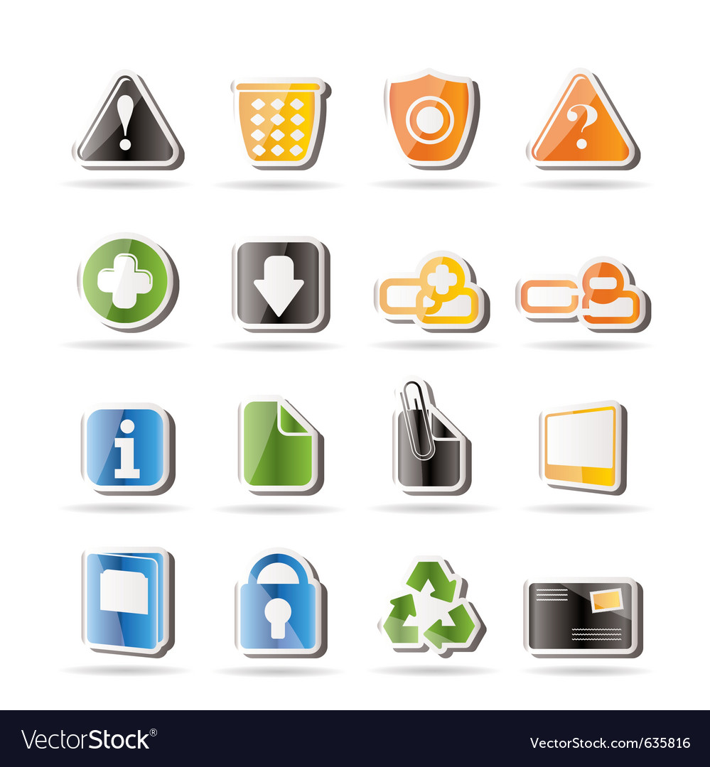 Simple web site and computer icons vector | Price: 1 Credit (USD $1)